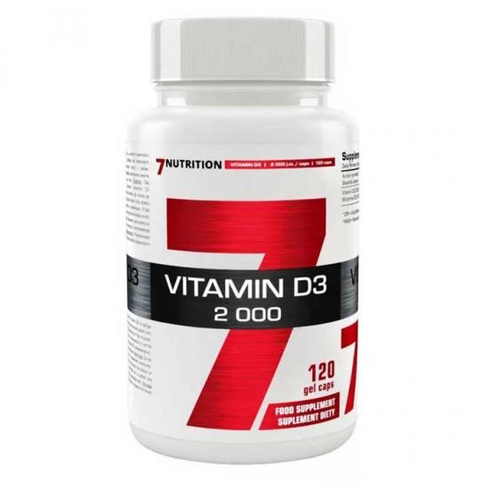 Vitamin D3 2000 120 caps - 7Nutrition