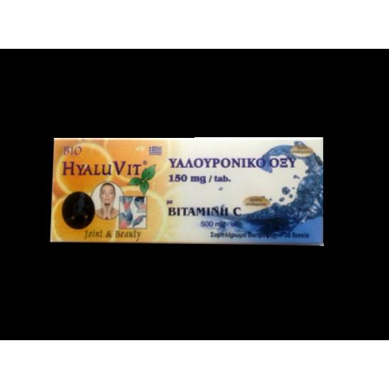 Υαλουρονικό Οξύ με Βιταμίνη C HyaluVit Medicrom SA 30 δισκία