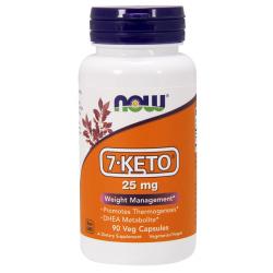 7 - Keto 25mg 90 φυτοκάψουλες DHEA - Now / Ειδικά Συμπλήρώματα