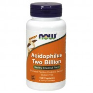 Acidophilus Two Billion - 100 capsules - Now Foods