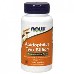 Acidophilus Two Billion - 100 capsules - Now Foods