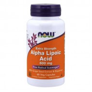 Alpha Lipoic Acid Extra Strength 600mg 60 vcaps - Now Foods