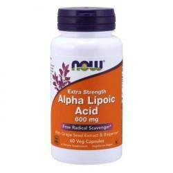 Alpha Lipoic Acid Extra Strength 600mg 60 vcaps - Now Foods
