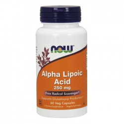 Alpha Lipoic Acid 250 mg 60 Veg Capsules - Now