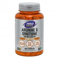 Arginine & Ornithine, 500/250 - 100 caps - Now / Αμινοξέα