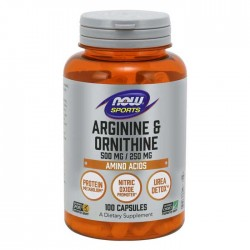 Arginine & Ornithine, 500/250 - 100 caps - Now / Αμινοξέα