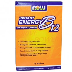 Instant Energy B12 2000 mcg 75 Packets Βιταμίνη Β-12 - Now / Βιταμίνες