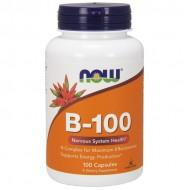 Vitamin B-100, Nervous System Health - 100 vcaps NOW Foods / Βιταμίνες