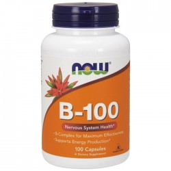 Vitamin B-100, Nervous System Health - 100 vcaps NOW Foods / Βιταμίνες