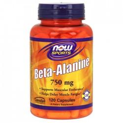 Beta Alanine, 750mg (Caps) - 120 caps - Now /  Βήτα Αλανίνη - Αμινοξέα