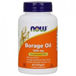Borage Oil 1000mg 60 μαλακές κάψουλες - Now / Λιπαρά Οξέα