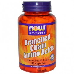 Branched Chain Amino Acids 120 κάψουλες - Now / Αμινοξέα BCAA