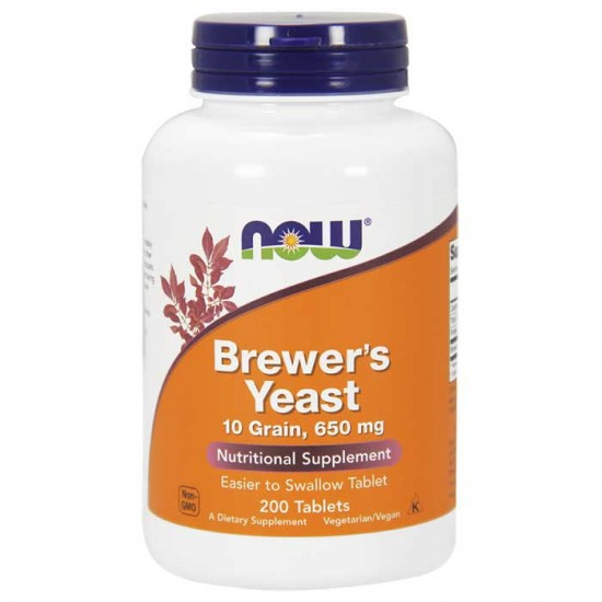 Brewer's Yeast 650 mg 200 Tablets - Now Foods / Μαγιά Μπύρας