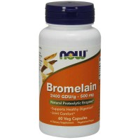 Bromelain 500mg 60 vcaps - Now Foods