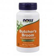 Butchers Broom 500mg 100 caps - Now Foods