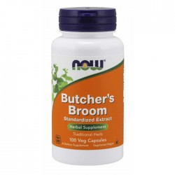 Butchers Broom 500mg 100 caps - Now Foods