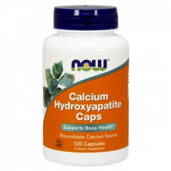 Calcium Hydroxyapatite 120 κάψουλες - Now / Ασβέστιο - Οστά