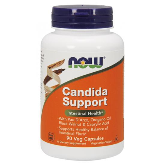 Candida Support 90 φυτοκάψουλες - Now / Ένζυμα - Υγεία του εντέρου