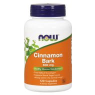 Cinnamon Bark 600mg 120 κάψουλες Κανέλα - Now / Ανοσοποιητικό