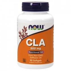 CLA 800mg 90 μαλακές κάψουλες - Now - Λιποδιαλύτης