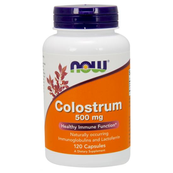 Colostrum 500mg 120 φυτοκάψουλες - Now / Ανοσοποιητικό