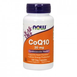 CoQ10 30mg - 120 vcaps NOW Foods / Ένζυμα Co-Q10