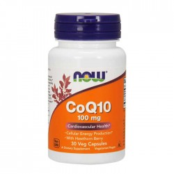CoQ10 with Hawthorn Berry, 100mg - 30 vcaps - Now Foods