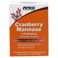Cranberry Mannose + Probiotics 144γρ - 24 πακέτα Now / Ουροποιητικό