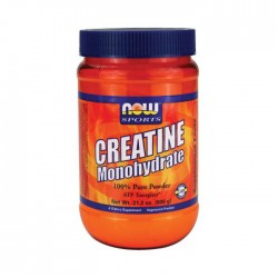Creatine Monohydrate, 100% Pure Powder - 600 grams NOW Foods / Μονοϋδρική Κρεατίνη