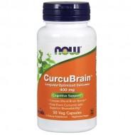 CurcuBrain 400 mg 50 Veg Capsules - Now Foods