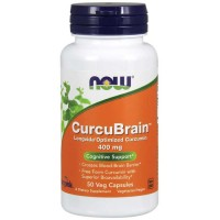 CurcuBrain 400 mg 50 Veg Capsules - Now Foods