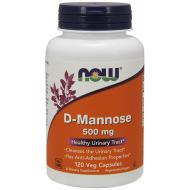 D-Mannose 500mg 120 Φυτοκάψουλες - Now / Ουροποιητικό