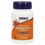 Vitamin D-3 2000 IU - 120 softgels NOW Foods / Βιταμίνη D3