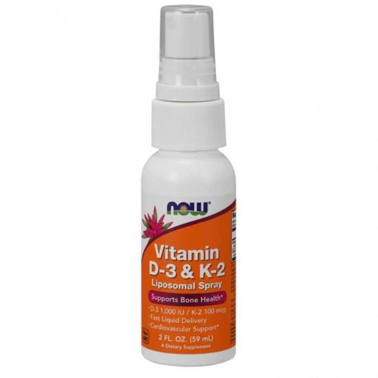 Vitamin D-3 & K-2 Liposomal Spray 59 ml  Now Foods / Βιταμίνη D3 K2