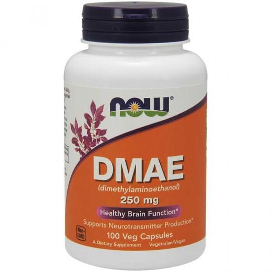 DMAE 250mg 100 φυτοκάψουλες - Now / Εγκέφαλος - Νευροδιαβιβαστές