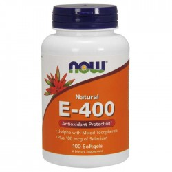 Vitamin E-400 IU with Selenium 100 Softgels - Now Foods / Αντιοξειδωτικό