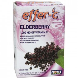 Effer-C Elderberry 30 φακελάκια - Now Foods