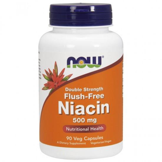 Niacin Flush-Free  500mg - 90 vcaps - Now / Βιταμίνη