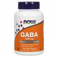 GABA, 500mg with Vitamin B6 100 vcaps - Now Foods