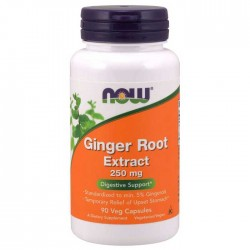 Ginger Root Extract 250mg 90 vcaps - Now Foods