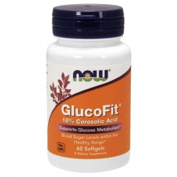 Glucofit Corosolic Acid 60 softgels - Now Foods