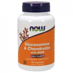 Glucosamine & Chondroitin with MSM 90 Capsules - Now Foods
