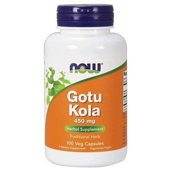 Gotu Kola 450mg 100 φυτοκάψουλες - Now / Βοτανοθεραπεία