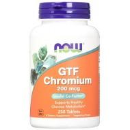 GTF Chromium 200mcg 250 ταμπλέτες - Now /  Χρώμιο - Μέταλλα