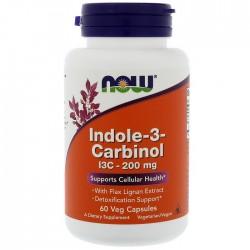 Indole-3-Carbinol (I3C) 200mg  60 φυτοκάψουλες - Now / Ειδικά Συμπληρώματα