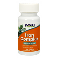 Iron Complex Essential Mineral 100 ταμπλέτες - Now / Σίδηρος