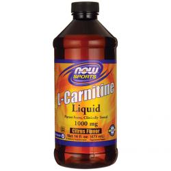 L-Carnitine Liquid 1000mg  473ml - Now / Λιποδιαλύτης - Καρνιτίνη