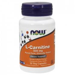 L-Carnitine 500mg 30 Κάψουλες - Now Foods