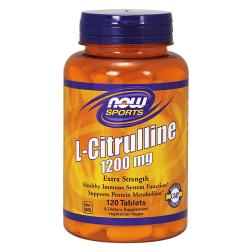 L-Citrulline, 1200mg (Extra Strength) - 120 tablets - Now / Κιτρουλίνη