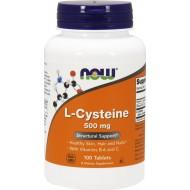 L-Cysteine 500mg 100 ταμπλέτες - Now / Μαλλιά Νύχια Δέρμα
